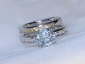 Diamonique Ring 925er Silber rhodiniert Gr.54 Neu