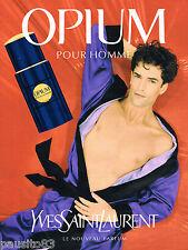 PUBLICITE ADVERTISING 065  1995  YVES SAINT LAURENT  nouveau parfum homme OPIUM