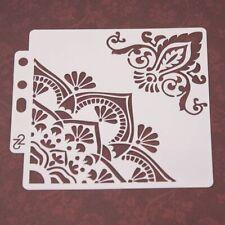 Flower Corner Stencils Painting Template Scrapbooking Embossing Album Card DIY