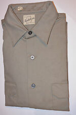 Vintage Nos 1950s-60s 2-Pocket Long Sleeve Work Shirt! Unused! Pinned! 15.5/Med