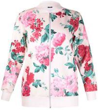 Cappotti e giacche da donna rosa floreale con cerniera