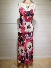 M&S Top & Skirt ~ Size 8/10 ~ Multi Coloured ~ Wedding, Casual, Party ~ A824
