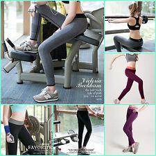 TOP Women's Slim Leggings Sport Fitness High Waist Legins Elastic Pants Yoga GYM