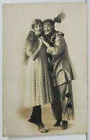 Rppc Young Ladies in Costumes Studio Portrait Real Photo c1910 Postcard O4