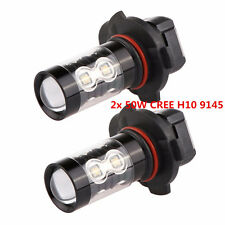 2x 50W CREE H10 9145 High Power LED 6000K Super White Fog Driving Lights Bulbs