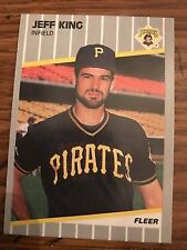 1989 Fleer Update Jeff King Pittsburgh Pirates #U114