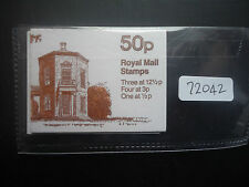 FOLLETO de Gran Bretaña doblado 50p 1982 FB20A + FB20B (promedio perfs) estampillada sin montar o nunca montada