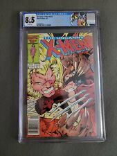 X-MEN #213 Newsstand CGC Graded 8.5 WP 1st Cam Mr. Sinister Wolverine Sabertooth
