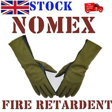 Nomex & Leather Fire Retardent Gloves Pilot Driving Racing Flying Rally Sports
