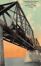 FL - 1910's Florida FEC Railway Train Bahia Honda Bridge Key West FLA Extension