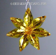 m/w Swarovski Crystal Lt. Topaz Flower Car Charm SunCatcher Lilli Heart Designs