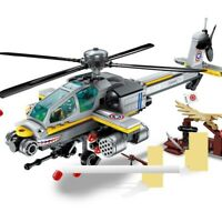 Helicopter  280PCS Lego City Military Sherman   Building Blocks WW2 Weapon Toys