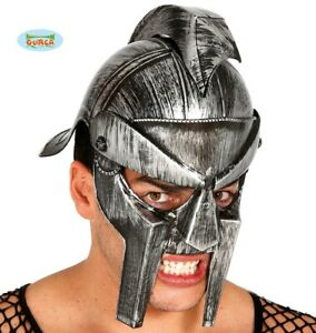 Mens Roman Gladiator Helmet Fancy Dress Helmet Roman Helmet New fg.