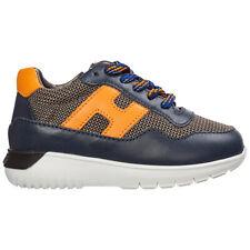 Hogan sneakers bambino interactive³ HXT3710AP30KIR773P blu logo pelle