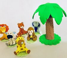 Baby Jungle Theme Set With Palm.Cake Topper.