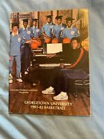 1981-82 Georgetown University College Basketball Yearbook