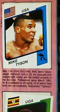 1987 PANINI Supersport Album #153 MIKE TYSON ROOKIE & Tyson FOIL #109B