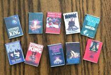Dollhouse Miniatures! Set #2 of 10 Stephen King Books! Readable!