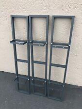 Lot of 3 IKEA LERBERG CD DVD Storage Shelf Mount Media GRAY