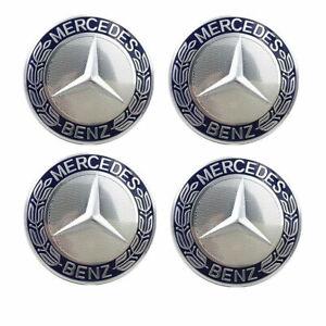 4PCS 75mm Wheel Center Hub Caps Cover Logo Badge Emblem Decal For Mercedes Benz