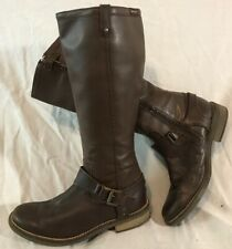 Girls Garvalin Brown Leather Lovely Boots Size 34 (399Q)