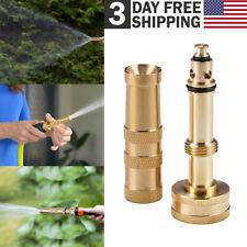 """Solid Brass Garden Spray Nozzle 4"""" Adjustable Twist Water Hose Nozzle Us Stock"""