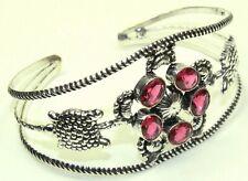 Open Cuff Bracelet Nrj-392 Rubylite Gemstone Ethnic Jewelry Handmade