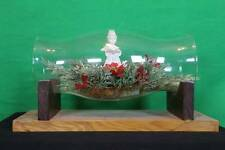 Hurricane Globe Angel Floral Shelf Display Wooden Stand Decorative Christmas