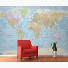 Carte du monde décoration murale 3.14m m x 2.32m imprimé sur haute qualité