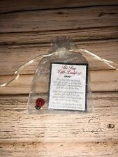 """""""The Tiny Little Ladybug� Pocket Token With Card And Cream Gift Bag"""