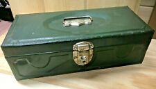 Vintage  Master Metal Products Niagra Green Tackle/Tool Box  Made in Buffalo, NY