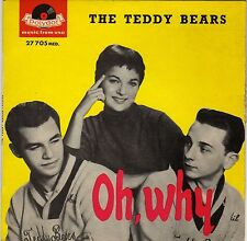 """THE TEDDY BEARS OH WHY FRENCH ORIG EP 45 YELLOW PS 7"""" PHIL SPECTOR"""