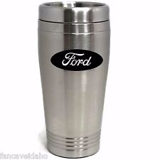 Ford Oval Logo Stainless Steel Black Logo Travel Mug Tumbler Cup
