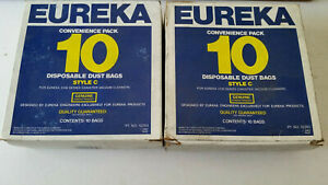 20 BAGS Genuine Eureka Brand Style C Disposable Dust Bags 3100 Series Vacuum