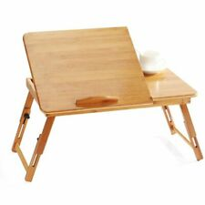 Desk Laptop Table Bed Sofa Tray Picnic Studying Adjustable Bamboo Computer Stand