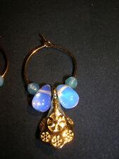 Ohrringe Opalprinzessin Opaltropfen Achat Perlen Unikat Handarbeit Creole Opalit