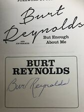 SIGNED Book Plate 1st EDITION BURT REYNOLDS BUT ENOUGH ABOUT ME BOOK Hard Back