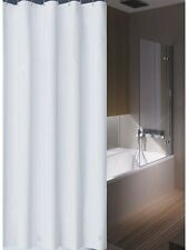 Clearance Plain White Shower Curtain 1.8m Drop New Free Shipping