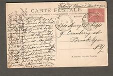 1905 post card France Versailles to Miss Mary Phipps Cranberry St Brooklyn NY