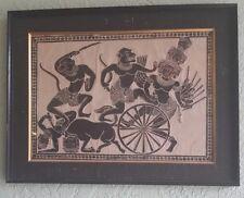 Cambodian Art  Ramayana Story Cloth Textile Art Vintage 1970
