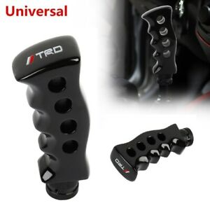 Universal TRD Black Slotted Pistol Grip Handle Manual Gear Shift Knob Shifter