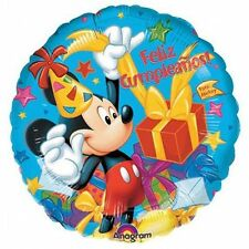 "Mickey Mouse Feliz Cumpleaños 18"" Balloon Disney foil mylar Spanish party"