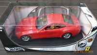 1/18 Red Ferrari 612 Scaglietti Hot Wheels Vintage V12 Toy Model Collectible Car
