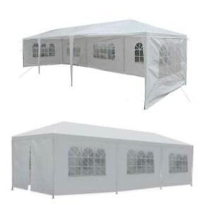 10'x30'Party Wedding Patio Tent Canopy Heavy Duty Gazebo Pavilion Event /w Walls