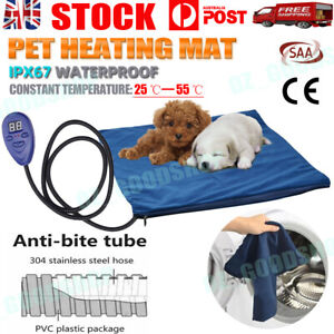 Pet Waterproof Electric Heating Pad Dog Cat Heated Warm Pad Thermal Protection