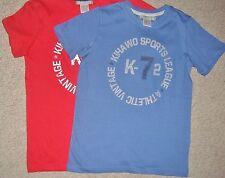 Magliette e maglie rosso a manica corta per bambini dai 2 ai 16 anni