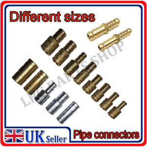 Metal Hose Joiner Barbed Steel Connector Reducer Fitting Air Fuel Water Oil Pipe