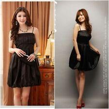 elegantes Abendkleid Ballonkleid schwarz Cocktailkleid Abiballkleid mit Träger