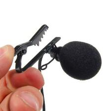 3.5mm Omnidirectional Tie Clip on Lapel Lavalier Mini Mic Microphone Stereo