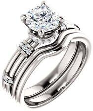 1 carat Round Diamond Engagement Wedding 14k White Gold Ring G VS1 w/ GIA cert
